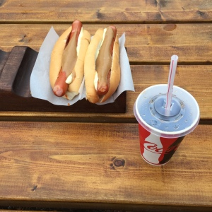 our most frequent Icelandic lunch: hot dogs